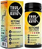 Best Ketone Test Strips - TRUE KETO KETOSIS Test Strips-URINALYSIS ACCURATELY Measures Level of Ketones in Urine. Establish Correct Level for NO/Low CARB Dieting Lifestyle to Burn Fat The Fastest