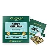 VAHDAM, té verde dulce de desintoxicación del Himalaya | 30 bolsitas de té (juego de 2) | Té de desintoxicación 100% natural | Hojas de té verde, Stevia, Cúrcuma, Shatavari, Cardamomo, Ashwagandha