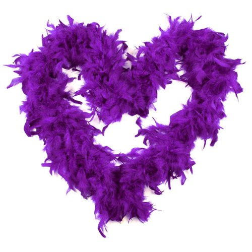 BestOfferBuy 2M Feather Boas Fluffy Party Decoration Costume Dress Up Prop Purple by BestOfferBuy