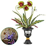 "ATDAWN Halloween Table Decorations, 18"" Halloween Flowers Decoration, Lighted Halloween Table Centerpieces, Artificial Corpse Flowers for Halloween Indoor Home Tabletop Haunted House Decorations"