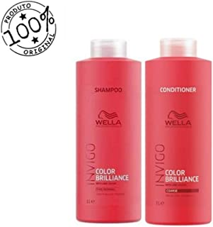 Wella Shampoo E Condicionador Invigo Color Brilliance 1000ml