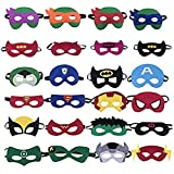 Zanskar Maschere per Bambini,24pcs Maschere di Supereroi Mask con Corda Elastica,Ideale pe...