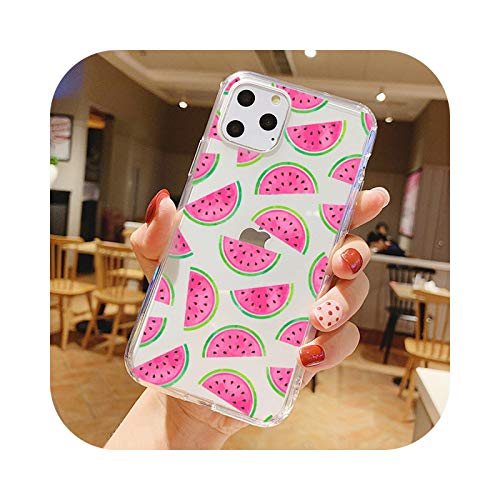 Summer Fruits Cangrejo Sandía Cactus Alpaca Teléfono Case Para iPhone 11 PRO MAX 7 8 6S Plus XS XR XS MAX Suave TPU Transparente Case 9-For iPhone 11