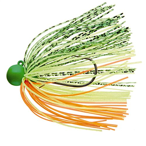 DAIWA TOURNAMENT - RUBBER JIG SS RH - Gewicht: 7,0g - Farbe: green/yellow/orange - NEW 2015 Gummi-Jig