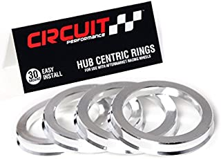 Circuit Performance 72.56mm OD to 64.1mm ID Silver Aluminum Hub Centric Rings