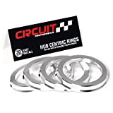 Circuit Performance 73.1mm OD to 64.1mm ID Silver Aluminum Hub Centric Rings
