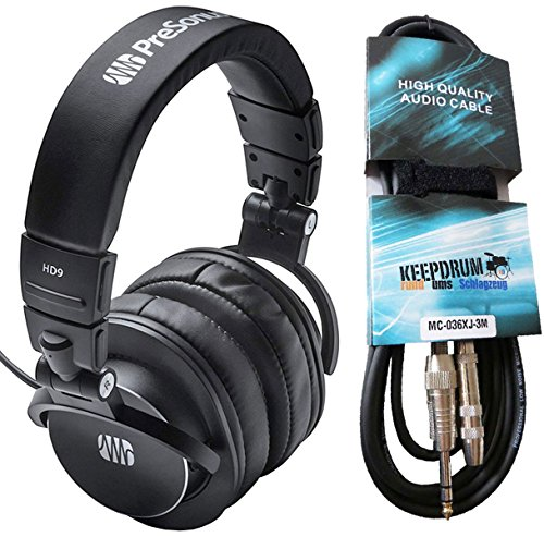 Presonus HD9 Monitor-Kopfhörer + keepdrum Verlängerungskabel 3m