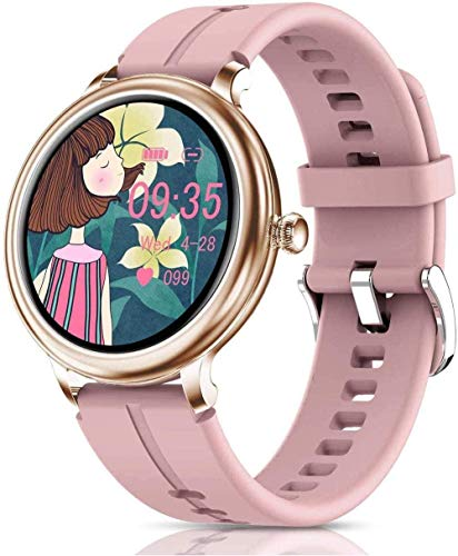 Reloj inteligente para mujer, monitor de actividad con pantalla táctil completa, IP68, resistente al agua, Bluetooth, con monitor de sueño de ritmo cardíaco