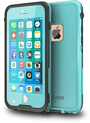 CellEver Compatible with iPhone 6 Plus / 6s Plus Case Waterproof Shockproof IP68 Certified SandProof Snowproof Diving Full Body Protective Cover - Ocean Blue