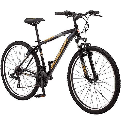 Schwinn High Timber Youth/Adult Mountain Bike, Steel Frame, 27.5-Inch Wheels, 21-Speed, Black