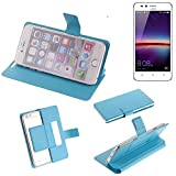 K-S-Trade® Flipcover Für Huawei Y3 II Dual-SIM Schutz Hülle Schutzhülle Flip Cover Handy Case Smartphone Handyhülle Blau
