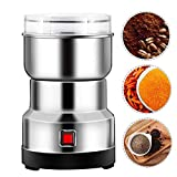 Elektrische Kaffeemühle, 550-W-Multifunktions-Zerkleinerungsmaschine, vierblättrige Edelstahlklingen Kaffee- und Gewürzmühle, geräuscharme Getreidemühle Lebensmittelgewürzmühle für Saatbohnennuss