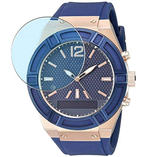 Vaxson 3 Unidades Protector de Pantalla Anti Luz Azul, compatible con Guess Connect Smartwatch 45mm Hybrid Watch [No Vidrio Templado] TPU Película Protectora