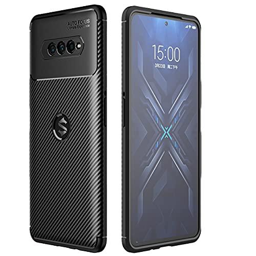 TingYR Hülle für Xiaomi Black Shark 4 Pro, Ultra Thin Silikon hülle Abdeckung Handy Hülle Stoßfest Hülle Schutzhülle, Handyhülle für Xiaomi Black Shark 4 Pro Smartphone.(Schwarz)