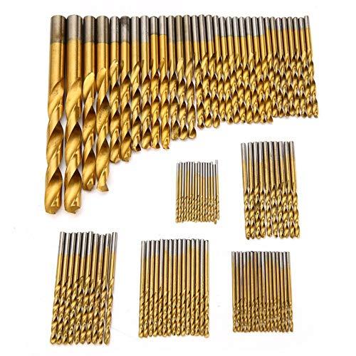 NIKOVAS 99pcs/set Titanium Coated Drill Bits High Speed Steel HSS Drill Bit Set Tool 1.5mm-10mm For Power Tools