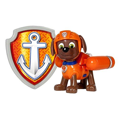 PAW PATROL – Action Pack – Zuma – Figurine Sac à Dos et Badge
