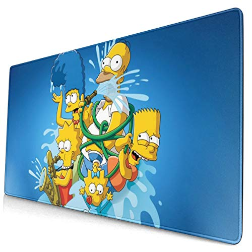 Qihuo Office Computer Mouse Pad for Laptops Anime The Simpsons Non Slip Rubber Mouse Mat 3mm Thicken Mouse Pad, 40x75cm