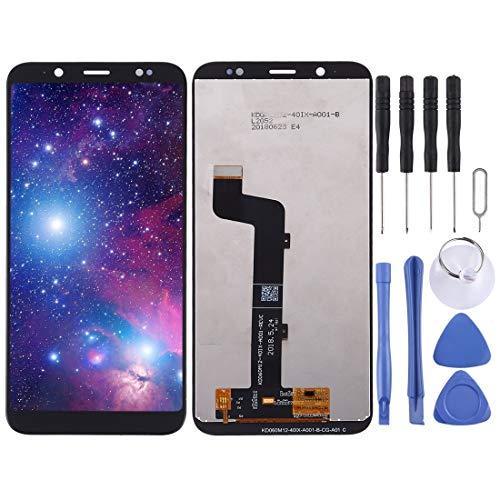 KONGXIPANSPARE Nagelneu LCD- Display und Digitizer Vollversammlung for HTC U12 Life (Farbe : Black)