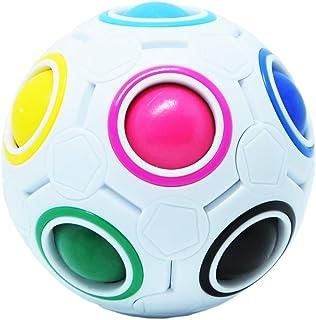 Maomaoyu Magic Rainbow Ball Cube Puzzle Magique 3D Puzzle Football Magic Speed Cube pour Enfants Jouet Éducatif Adolescent...