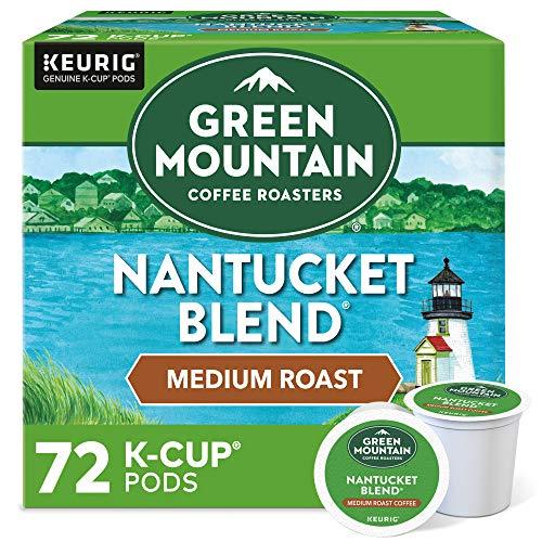 Green Mountain Coffee Roasters Nantucket Blend, Single-Serve Keurig K-Cup Pods, Medium Roast Coffee Pods, 72 Count