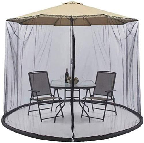 Paraguas de jardín al aire libre Su sombrilla en un mirador Mosquito Net para sombrilla, Patio Paraguas Portada Mosquitera Patio Patio Paraguas Mosquitera Net Cover Outdoor Garden Umbrella Parasol Mos