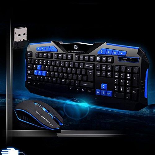 Alikey Gaming-toetsenbord en muis, draadloos, 2,4 G, voor multimedia-gamers
