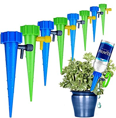 LABOTA 24 Packs Self Watering Spikes, Adjustable Plant Watering Spikes with Slow Release Control Valve Switch for Garden Plants Indoor & Outdoor from LABOTA