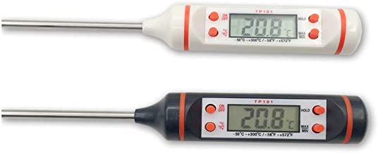 Boomboost Termómetro Digital para Carnes Cocina Cocina BBQ Hogar Medidor de Temperatura de Alimentos Probador Detector Agua Leche Termómetro de Aceite