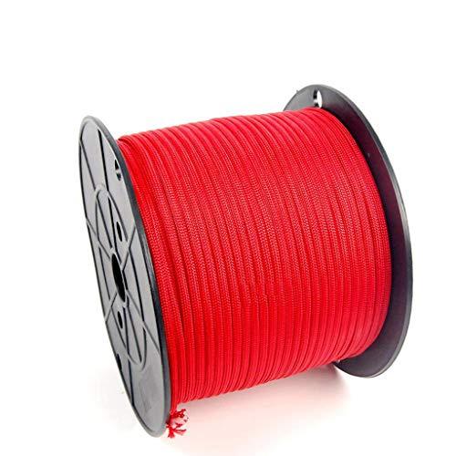LINLIM Kletterseil Regenschirm Seil Outdoor Ausrüstung Fallschirmjäger Seil Landeseil 4mm100 M 9 Core Red