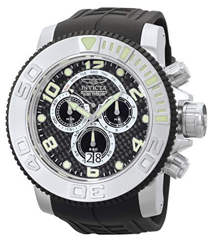 Invicta Men's 0412 Pro Diver Collection Sea Hunter Chronograph Black Polyurethane Watch