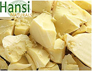 Hansi Naturals Cocoa Butter 100% Fresh (1 LB) Chunks for Creams, Cosmetics or Chocolate