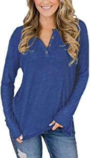 Long Sleeve Shirt Women - Fall Tops Long Sleeve Tunic Sweaters Blouse