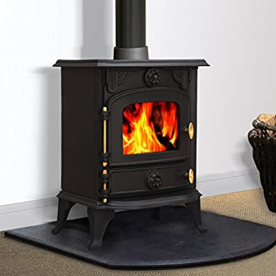 Lincsfire JA013 6.5KW Multifuel Woodburning Fireplace Cast Iron Woodburner