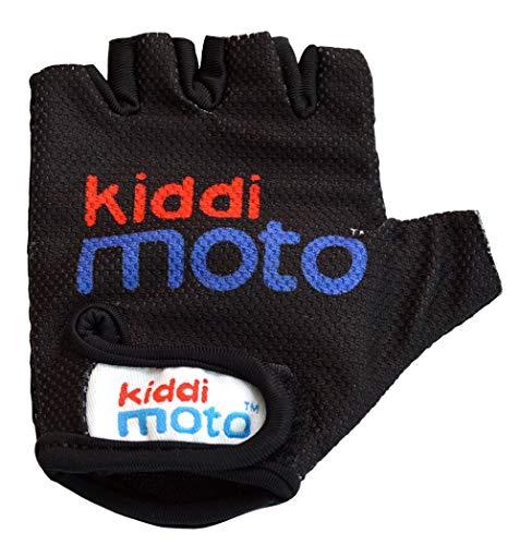 KIDDIMOTO - Gants Vélo pour Enfant de 2 à 8 Ans, Parfaits pour Les Sports de Plein air, Le Cyclisme, la Trottinette - Noir - Petite (2-5 Ans)