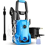 [New Model] Pressure Washer, 3000PSI Electric Pressure Washer, 2.4GPM 1600W Portable Power Washer , Adjustable Spray Nozzle, Soap Tank, IPX5 Car Washer Machine (Blue)