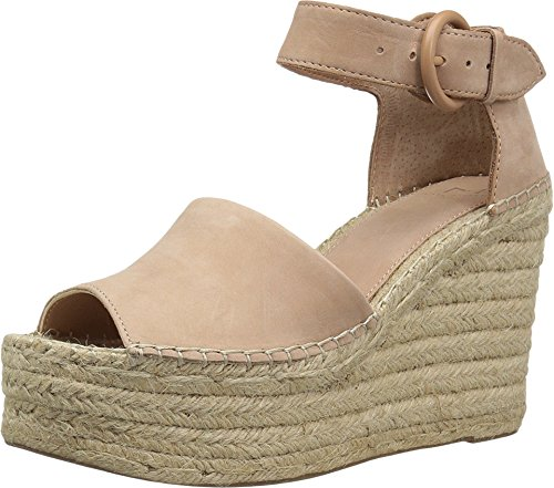 Marc Fisher LTD Alida Espadrille Wedge Light Pale Rust Suede 6.5