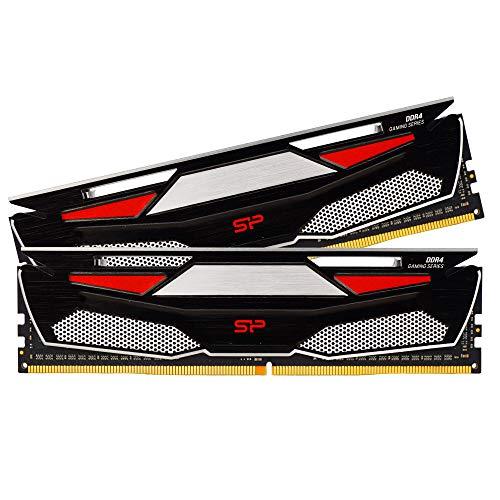 Silicon Power DDR4 16GB (2 x 8GB) RAM 2666MHz (PC4 21300) 288-pin CL19 1.2V Non ECC Unbuffered 16GB-UDIMM Desktop Memory