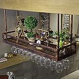 FCXBQ Estante para Copas de Vino, Estante para Copas de Vino, Estante para Copas de champán, Estante para cristalería Estante para Vino, Estante para Vasos de Copa, Estante para Vino de cristalerí