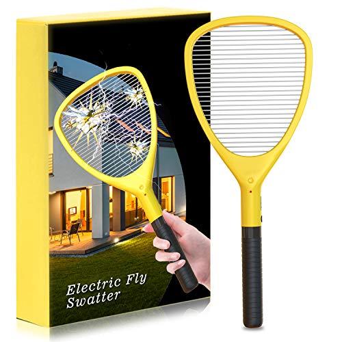 Fullsexy Elektrische Fliegenklatsche Elektro Insektenfalle Insektenvernichter mit hellem LED-Licht in der Dunkelheit für Reisen Camping Ungiftig MEHRWEG