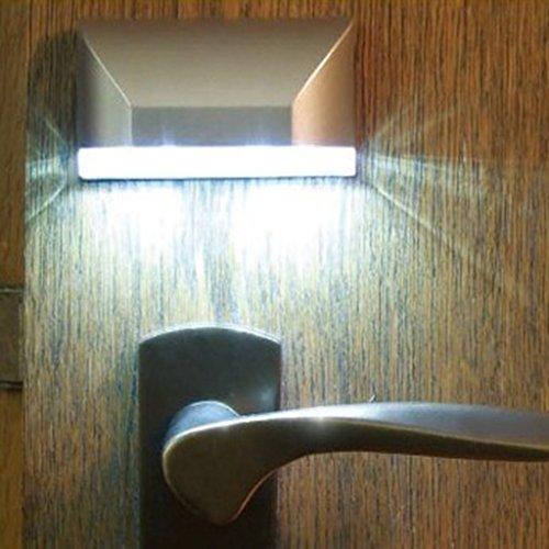 VANKER Automatique Infrarouge Capteur Corps 4 LED Lampe Sécurité de Trou de Serrure pour Famille Hôtel Porte