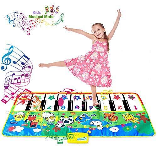 Piano Music Dance Mat, Educational Music Toys for 1-6 Year Old Girls Boys Toddlers Infant Kids Gifts for 2-6 Year Old Boys Girls Birthday Present