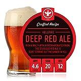 BrewDemon 2 Gal. Hellfire Deep Red Ale Beer Recipe Kit - Makes a Wicked-Good 4.6% ABV Batch of Craft Brewed Beer