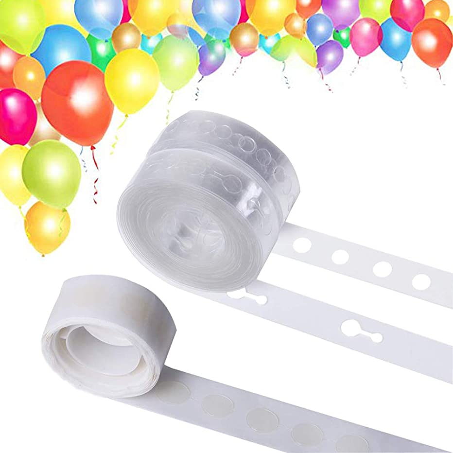 Balloon Decorating Strip for Arch Garland Streamer, Double Hole Balloon Garland Kit Decorating Strip Tape for Birthday Party Halloween Christmas Wedding