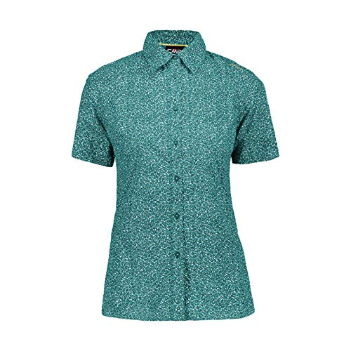 CMP Damen Short Sleeve Shirt UPF 30 T-Shirt, Opacity, Lake Solarium, 20