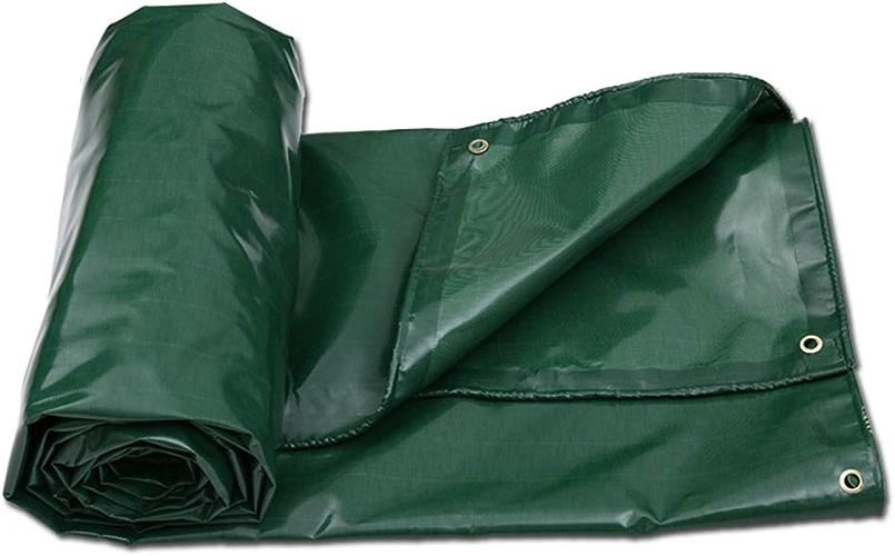 Tarpaulin HUO Toile de Prougeection Solaire bache Double Face épaisse et Durable - Haute résistance Anti-age - Vert - Options Multi-Tailles (Taille   4  3m)