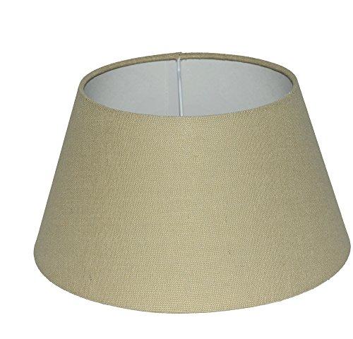 Lampenschirm für Tischleuchte in Rund Leinen Almeria Natur TL 30-20-17