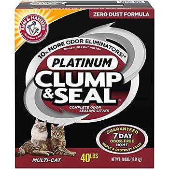 Arm & Hammer Clump & Seal Platinum Cat Litter Multi-Cat 40 Pound  Pack of 1