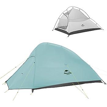 Naturehike テント 2人用 アウトドア 二重層 自立式 超軽量 4シーズン 防風防水 PU3000/4000 キャンピング プロフェッショナルテント (専用グランドシート付)