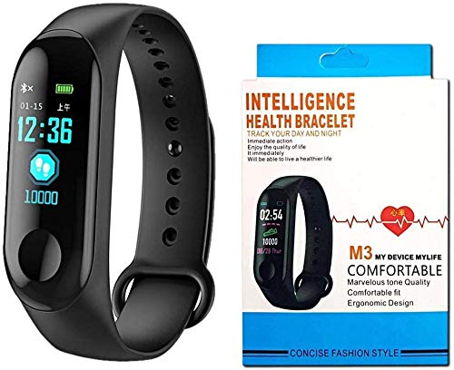 DWC Smart Fitness Band M3 with Heart Rate Monitor;Waterproof;Colorful Display;USB Charging;Call &...