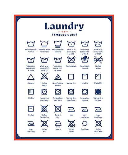 Laundry Symbols Guide Magnet Sign by Jot & Mark